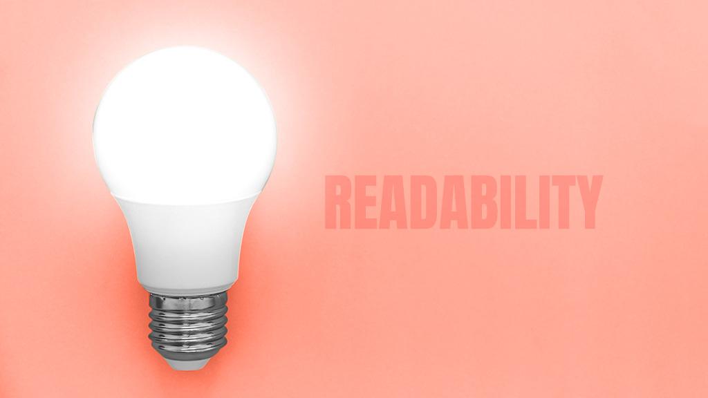 focus on readability